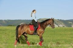 Enjoy horse riding Stock Photography