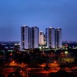 Enjoy Jakarta. Jakarta pada malam hari Royalty Free Stock Image