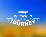 Enjoy journey header with sun royalty free illustration