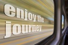 Enjoy the journey inspirational phrase Royalty Free Stock Photos