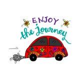 Enjoy the journey. Motivational quote Stock Photos