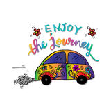 Enjoy the journey. Motivational quote Royalty Free Stock Image