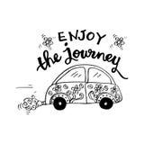 Enjoy the journey. Motivational quote Stock Image