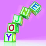 Enjoy Letters Mean Recreation Play Or Fun Royalty Free Stock Image