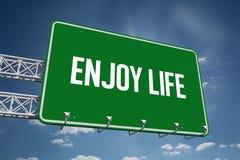 Enjoy life against cloudy sky with sunshine Stock Photos