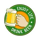 Enjoy Life Drink Beer Label Royalty Free Stock Image