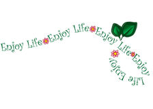 Enjoy Life Flower Vine Vector Royalty Free Stock Images