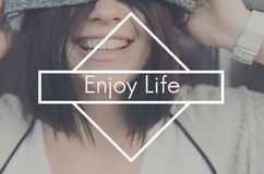 Enjoy Life Happiness Live Love Like Love Joy Concept Royalty Free Stock Photo