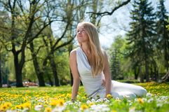 Enjoy life - happy young woman Royalty Free Stock Photo