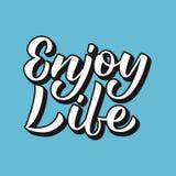 Enjoy life lettering Stock Photos