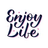 Enjoy life lettering Stock Images