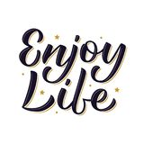 Enjoy life lettering Stock Photography