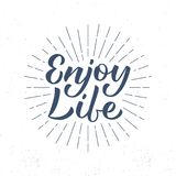 Enjoy life lettering Royalty Free Stock Photography