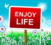 Enjoy Life Shows Positive Joyful And Jubilant Royalty Free Stock Photo