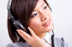Enjoy listening music Royalty Free Stock Photo
