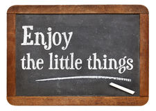 Enjoy little things on blackboard Stock Images