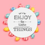 Enjoy the little things with Easter eggs stock images