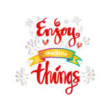 Enjoy the little things. Royalty Free Stock Photo