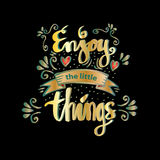 Enjoy the little things. Royalty Free Stock Images