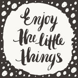 Enjoy the little things Royalty Free Stock Images