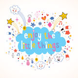 Enjoy The Little Things Royalty Free Stock Photos