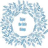 Enjoy the little things typography poster Royalty Free Stock Photo