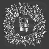Enjoy the little things typography poster Royalty Free Stock Photography