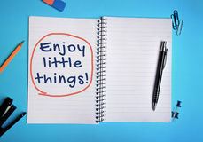 Enjoy the little things word Royalty Free Stock Images