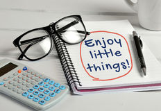 Enjoy the little things word Royalty Free Stock Image