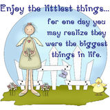 Enjoy the Littlest Things...Country Girl Scene royalty free illustration