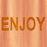 ENJOY made with wood Stock Photos