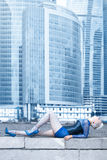 Enjoy the Megapolis live! Royalty Free Stock Photo