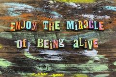 Enjoy miracle alive life love magic help nature
