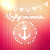 Enjoy moment phrase on geometry background Royalty Free Stock Photography