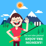 Enjoy the moment! Royalty Free Stock Photography