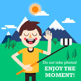 Enjoy the moment! Stock Photography
