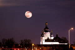 Enjoy Moon Night Royalty Free Stock Photos