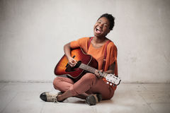 Enjoy music Royalty Free Stock Photo