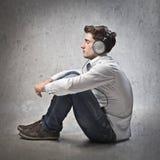 Enjoy music Stock Photo
