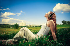 Enjoy music! Royalty Free Stock Image