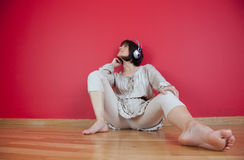 Enjoy music at home Royalty Free Stock Photos