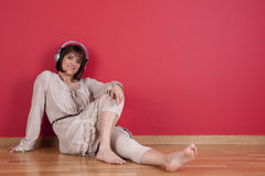 Enjoy music at home Stock Image