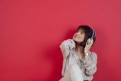 Enjoy music at home Royalty Free Stock Photo