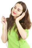 Enjoy music young woman in headphones Royalty Free Stock Photo