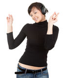 Enjoy musick Stock Photo