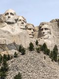 Rock carving of four presidents at Mt. Rushmore Stock Photo