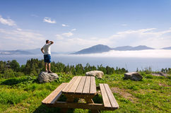 Enjoy Norwegian view Stock Image