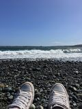 Enjoy the ocean. Picture taked on Chaiguao, located in Chiloe island-chile on south america. It was an incredible sunny day beautiful waves from the pacific Stock Photo