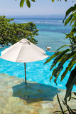 Enjoy the ocean view infinity pool on vacation Royalty Free Stock Photography