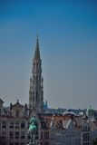 Enjoy one of the rarest and most beautiful views in the city of Brussels Royalty Free Stock Image